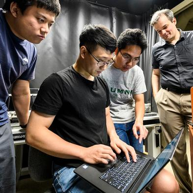 Image of researchers in the lab.